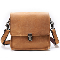 Push Lock Genuine Leather Messenger Bag LH2150