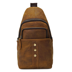 Pull Up Leather Sling Bag Chest Bag LH2185_2 Colors