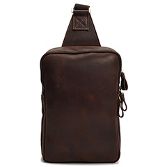 Pull Up Leather Sling Bag Chest Bag LH2187_2 Colors