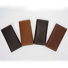 Bi-fold Crazy Horse Hunter Leather Wallet LH2217_4 Colors