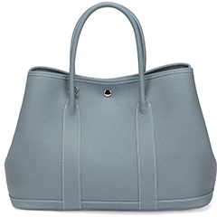 Blue Elegant Real Leather Tote LH2382L