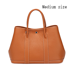 Elegant Real Leather Tote LH2382M_6 Colors