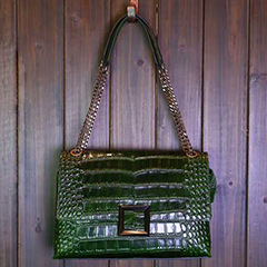 Crocodile Pattern Real Leather Shoulder Bag LH2417_5 Colors