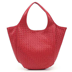 Handmade Woven Lambskin Leather Tote Purse LH2461_3 Colors