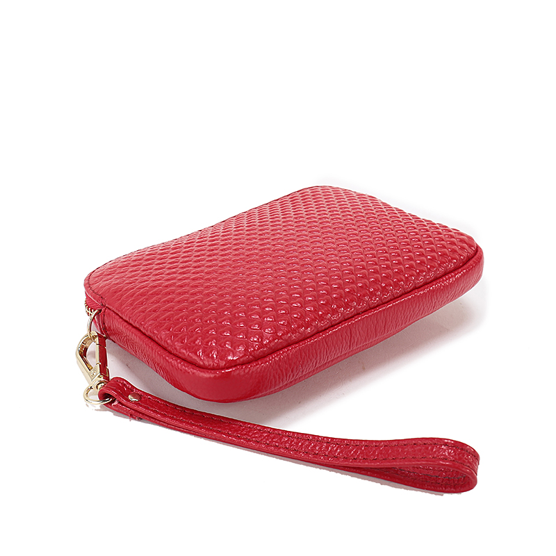 Heart Embossed Real Leather Small Purse LH2251