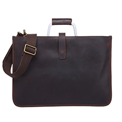 Business Flat Real Leather Briefcase Laptop Bag LH2590_2 Colors