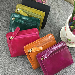Distress Short Wallet Card Holder LH1634_6 Colors