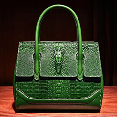 Designer Crocodile Embossed Leather Tote Bag LH2683S_5 Colors