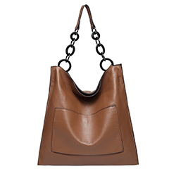 Brown Cowhide Real Leather Slouchy Shoulder Purse LH2716