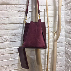 Nubuck Unlined Real Leather Shoulder Bag LH2754A_3 Colors