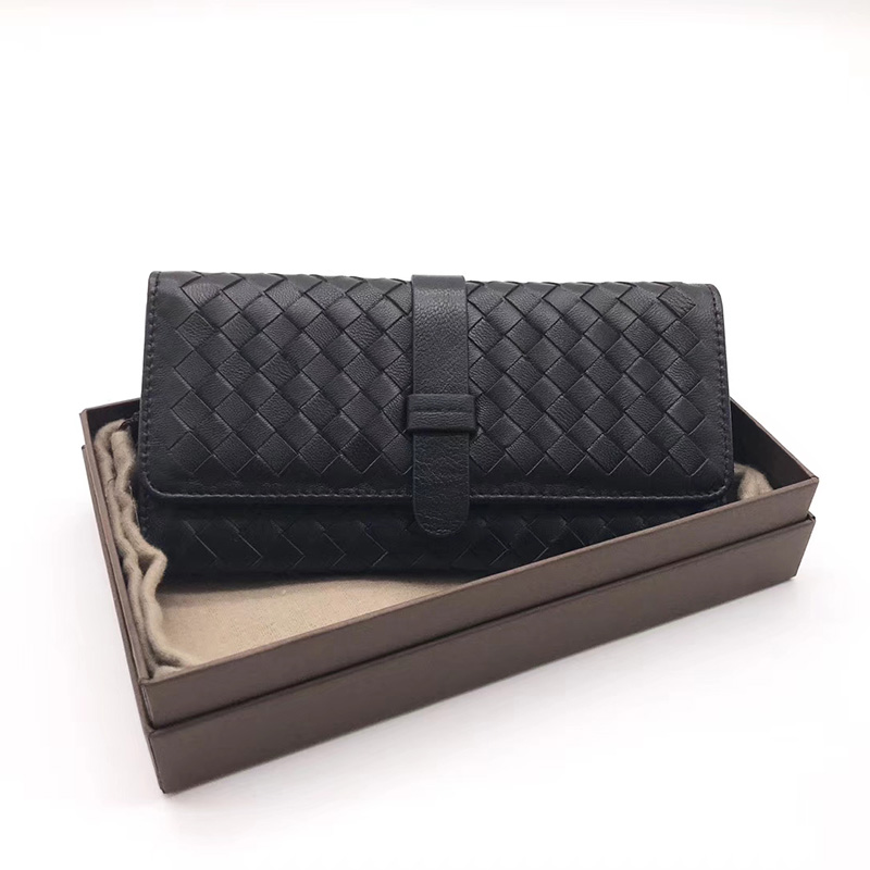 Trifold Woven Sheepskin Real Leather Wallet LH2775_5 Colors