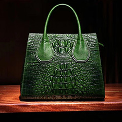 Elegant Crocodile Embossed Real Leather Handbag LH2451A_3 Colors