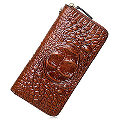 Crocodile Effect Real Leather Wallet LH2794_6 Colors