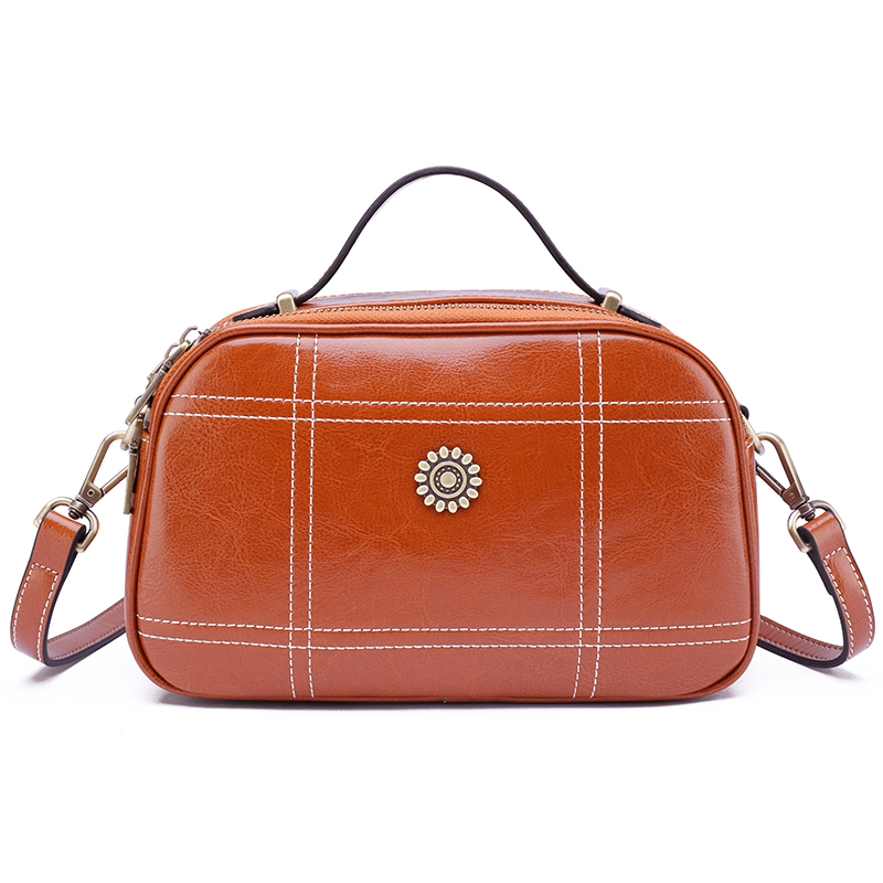 Real Leather Crossbody Bag Satchel Bag LH2840_3 Colors