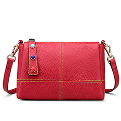 Grain Cowhide Leather Crossbody Bag LH2845_2 Colors