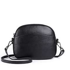 Trendy Cowhide Leather Crossbody Purse Bag LH2852B_2 Colors