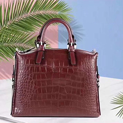 Crocodile Pattern Real Leather Purse LH2876_2 Colors