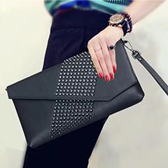 Designer Rivet Leather Purse Clutch Bag LH2882