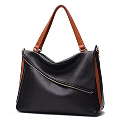 Blocked Color Women Leather Shoulder Bag LH2911_5 Colors