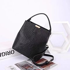Python Pattern Real Leather Barrel Bag LH2927_5 Colors