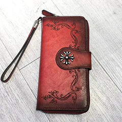 Rustic Distressed Leather Clip Real Leather Wallet LH2946_3 Colors