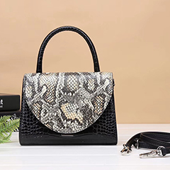 Python Effect Leather Shoulder Bag Tote Purse LH2975_ 2 Colors