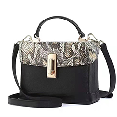 Python Effect Leather Tote Purse for Women LH2977