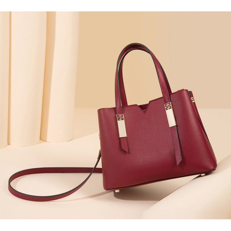 Ladies Real Leather Tote Bag LH2988_4 Colors
