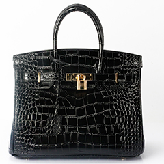 30cm Crocodile Pattern Padlock Leather Tote LH1632M_12 Colors