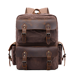 Canvas Leather Backpack Purse for Men LH3006_3 Colors