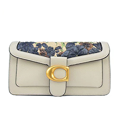 Floral Pattern Quilted Flap Crossbody Purse LH3022B_2 Colors