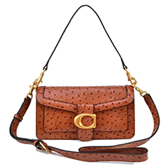 Ostrich Pattern Real Leather Bag Crossbody Purse LH3022A_2 Colors