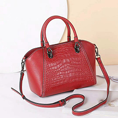 Crocodile Pattern Real Leather Tote Handbags LH3023_6 Colors