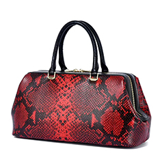 Gorgeous Boston Python Effect Leather Tote Bag LH3026_6 Models