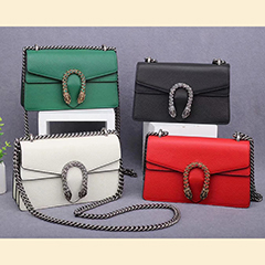 Flap Over Genuine Leather Crossbody Bag LH2647_4 Colors