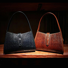 Ladies Crocodile Pattern Leather Hobo Bag LH2679B_5 Colors