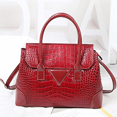 Elegant Crocodile Pattern Leather Handle Bag LH3052_4 Colors
