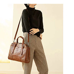 Trendy Crocodile Pattern Leather Handle Bag LH3053_6 Colors