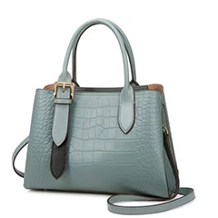 Crocodile Pattern Leather Tote Top Handle Bag LH3059_3 Colors