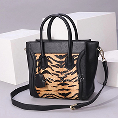 Horse Hair Furry Leather Satchel Bag LH3058_3 Colors