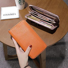 Zipper Around Long Leather Wallet Ladies Purse LH3090_10 Colors