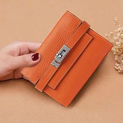 Real Leather Padlock Wallet Womens Purse LH3089_5 Colors