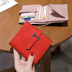 Womens Bidfold Leather Wallet LH3085_9 Colors
