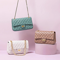 Quilted Genuine Leather Crossbody Bag LH3091L_6 Colors