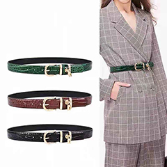 Crocodile Pattern Real Leather Belts LH3094_5 Colors