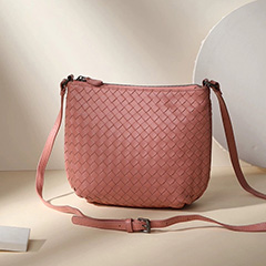 Woven Sheepskin Leather Crossbody Bag LH3099_4 Colors