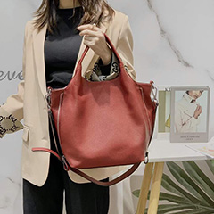Functional Genuine Leather Tote Bag for Women LH3104_6 Colors