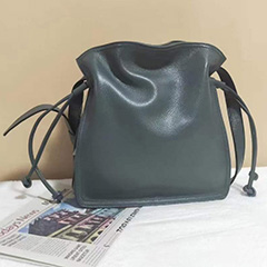 Genuine Leather Drawstring Crossbody Bag LH3101_4 Colors