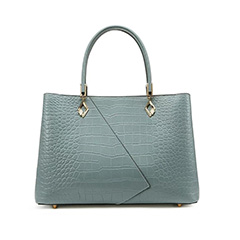 Crocodile Pattern Real Leather Tote Bag LH3107_2 Colors