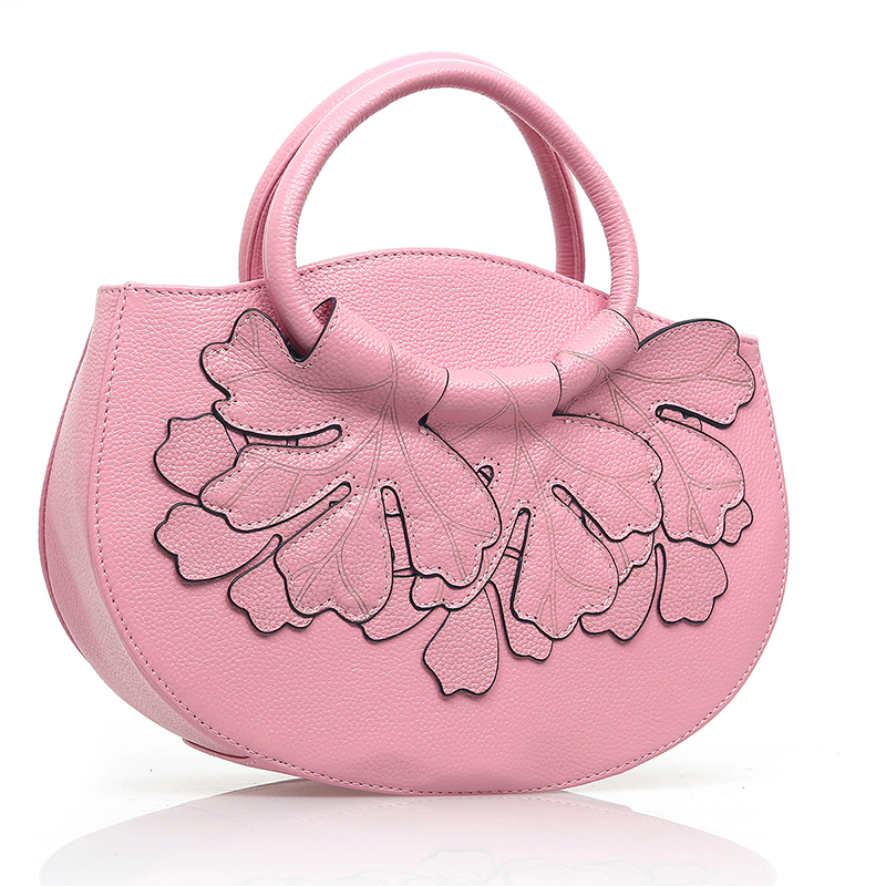 Floral Real Leather Tote LH2337_4 Colors